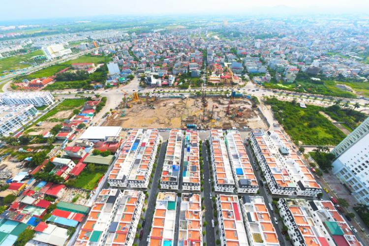 Cập nhật tiến độ dự án Hoàng Huy Commerce tháng 8/2021