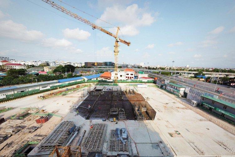 Hoàng Huy Grand Tower: Đóng nắp hầm dự án vượt tiến độ 7 ngày