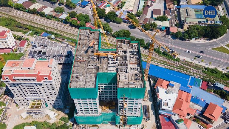 độ thi công chung cư Hoàng Huy Grand Tower
