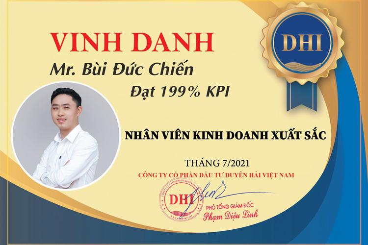 Tự hào tôn vinh thành tích xuất sắc khối kinh doanh tháng 7 của Duyên Hải Land