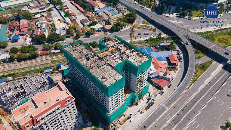 [ Cập nhật mới nhất] Tiến độ thi công chung cư Hoàng Huy Grand Tower – Update ngày 08/10/2021